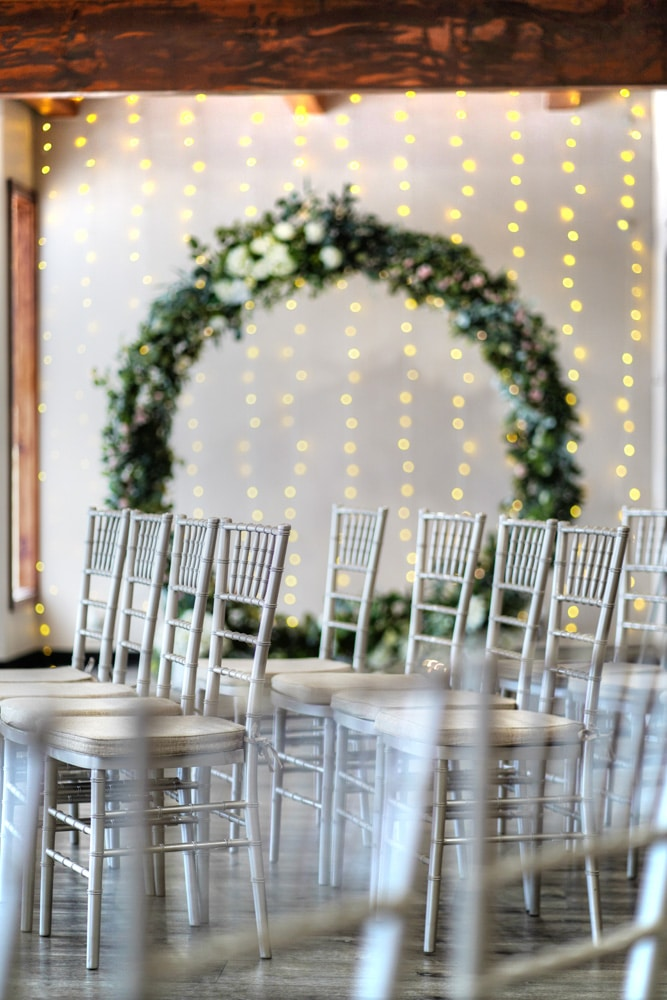 Archway Wreath Wedding Chapel