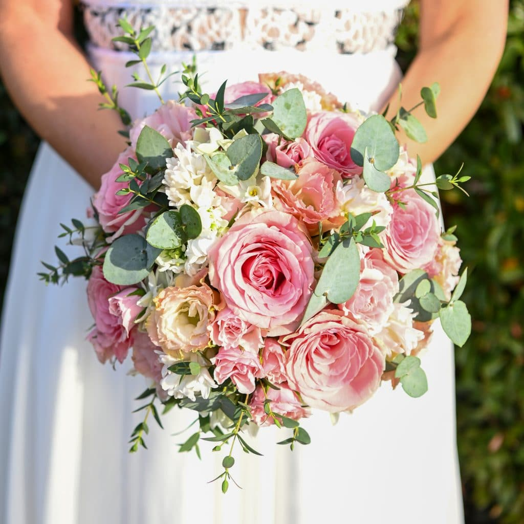 Pink and White Wedding Bouquet from The Little Vegas Chapel