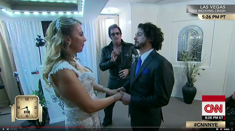 CNN Elvis Wedding at The Little Vegas Chapel