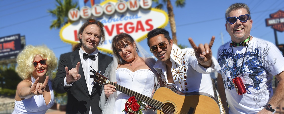 Elvis Las Vegas Sign Wedding
