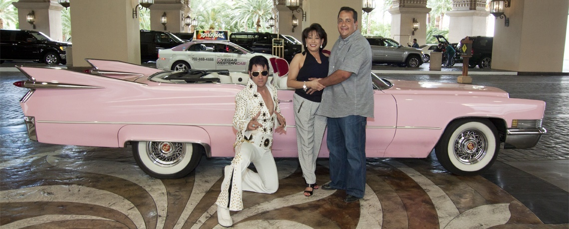 Our Las Vegas Elvis chapel and pink Cadillac is the best!