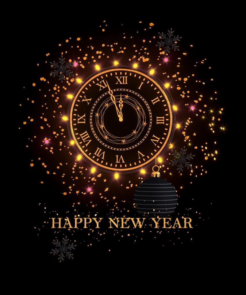 Happy New Year Clock image