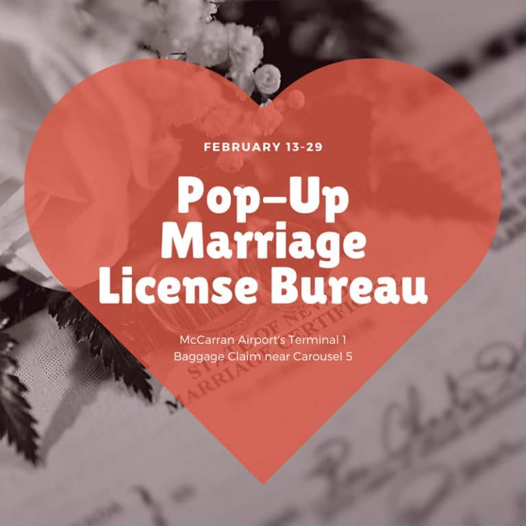 Pop-Up Marriage License Bureau