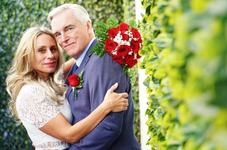 Wedding in Rose Garden at Little Vegas Chapel