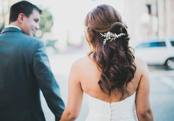 Spring Wedding Trends Hair Style, Half Up, Half Down