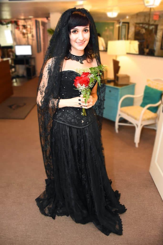 black wedding dresses vintage trend