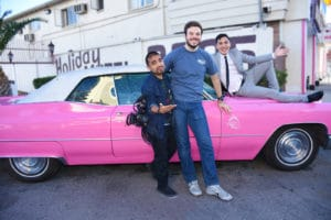 Buzzfeed and Team with Iconic Pink Cadillac at The Little Vegas Chapel