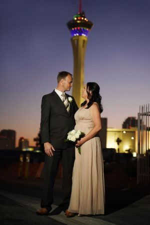 Las Vegas Wedding Chapel Stratosphere Shot