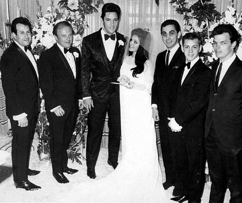 Elvis and Pricilla Presley Wedding | 1 May, 1967 | Aladdin Hotel, Las Vegas
