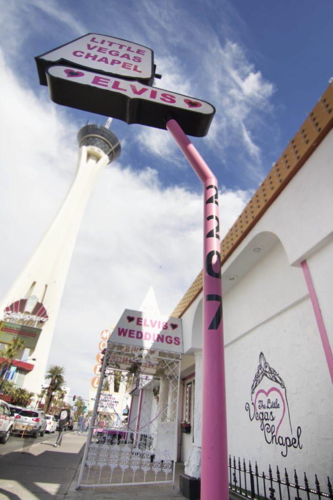Little Vegas Chapel Sign