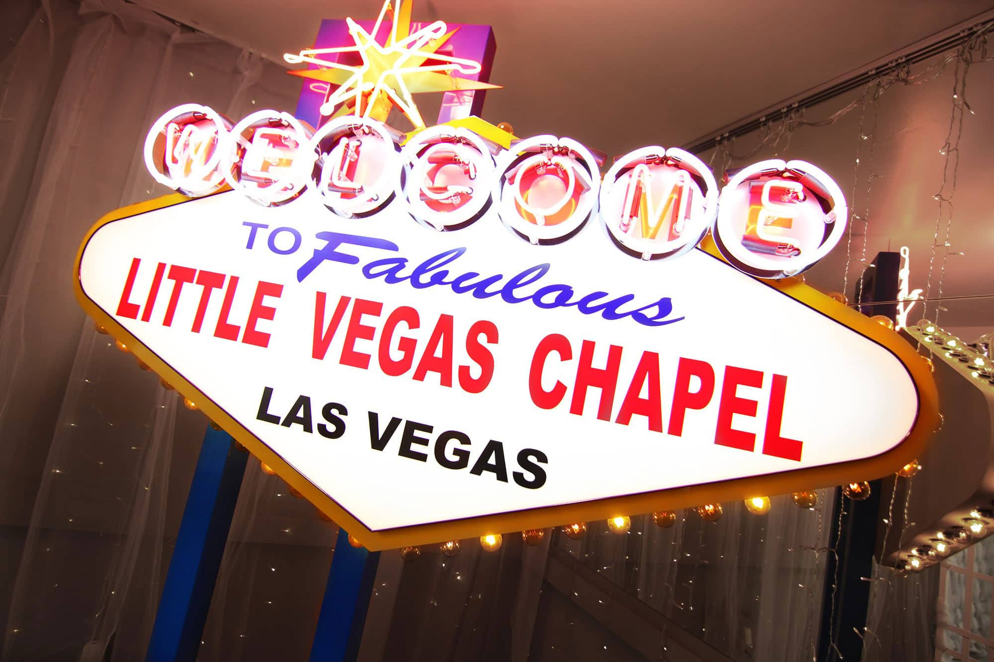 Little Vegas Chapel Sign The Little Vegas Chapel