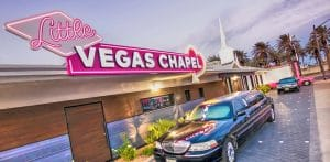 Little Vegas Wedding Chapel Exterior Front