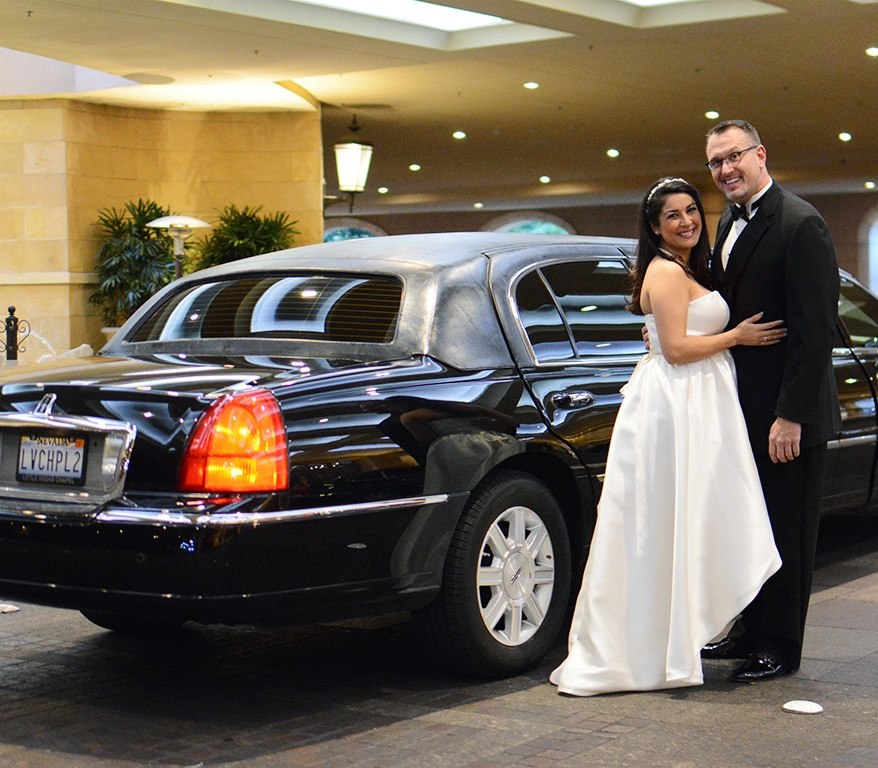 Pink Limo Wedding Las Vegas