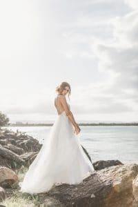 Bride in Wedding Dress at Little Vegas Chapel
