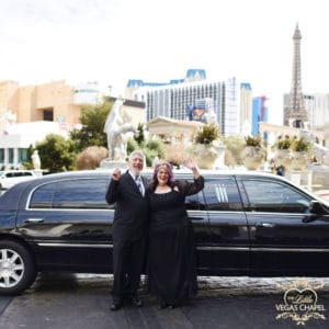 Wedding Photo in front of Limo